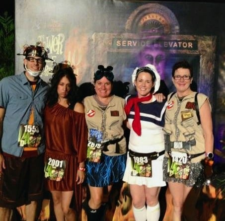 Tower of Terror 10-Miler Ghostbusters runDisney group costume theme