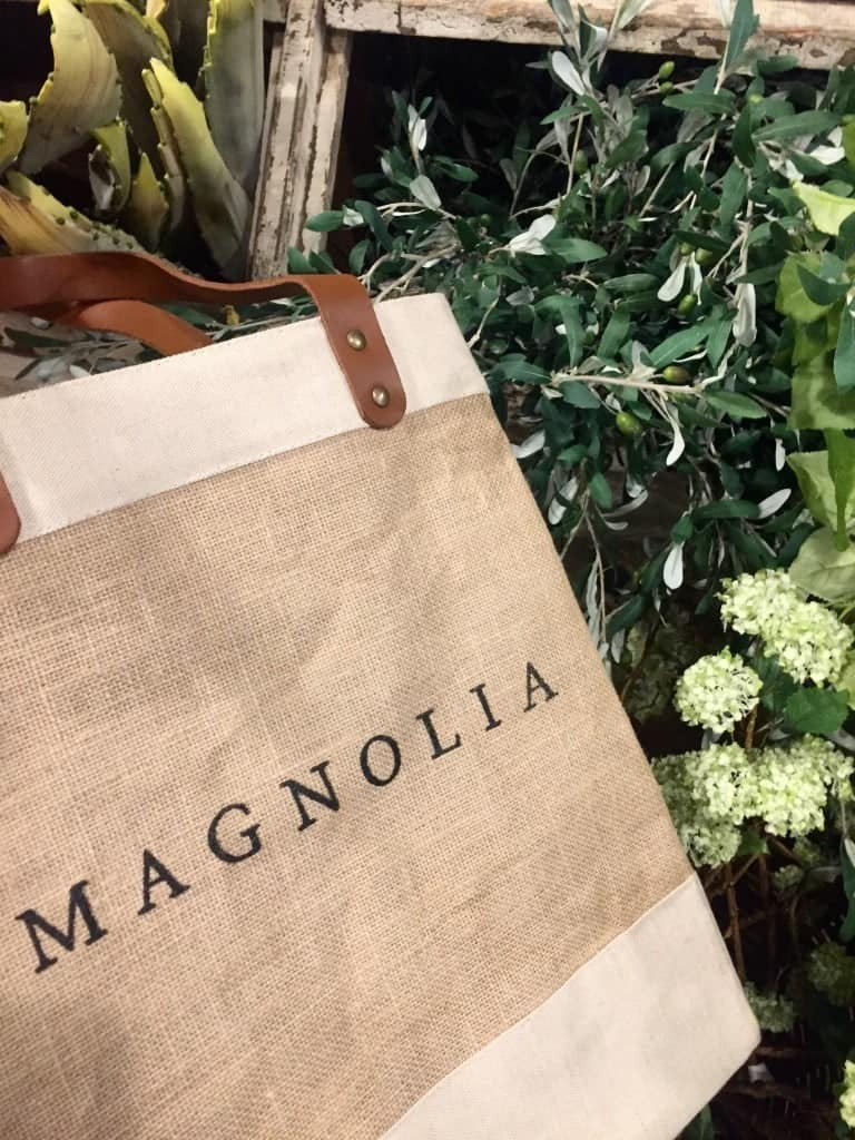 Grab a Magnolia Market shopping bag on your way in the store.