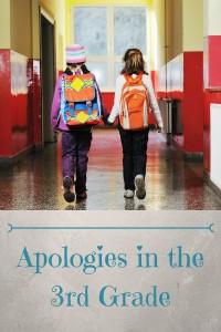 Apologies in 3rd grade