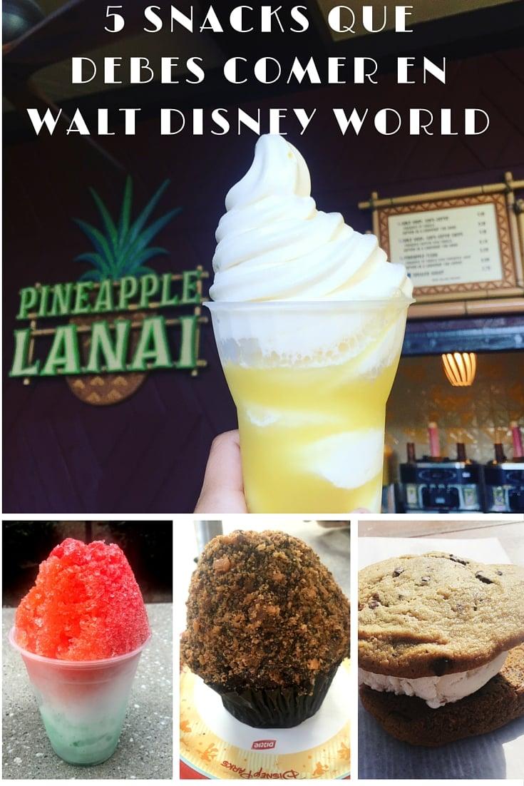 5 Snacks Que Debes Comer en Walt Disney World - Los snacks y comidas más deliciosos en los parques Disney