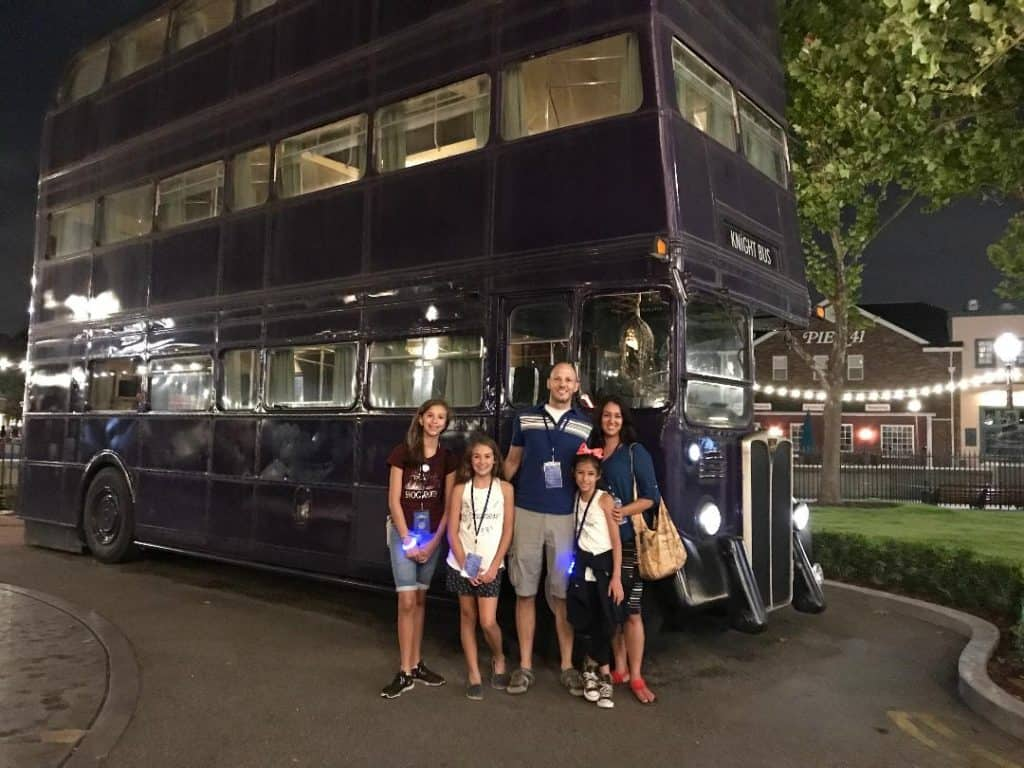 The Knights Bus photo op in Diagon Alley at Universal Orlando is a bonus must-do!