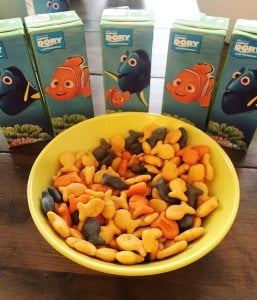Finding Dory juice boxes and goldfish crackers