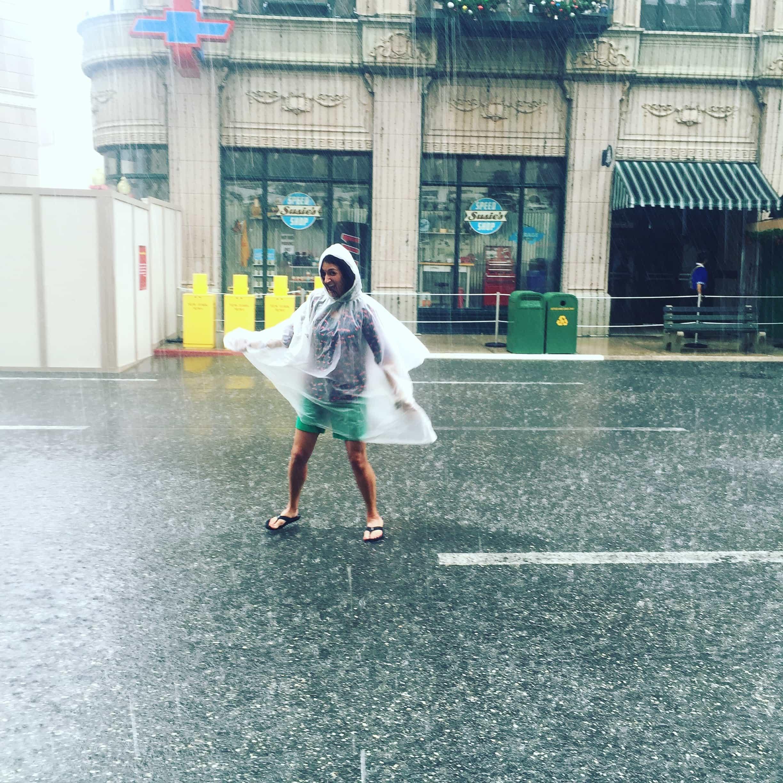 Dancing in the rain at Disney's Hollywood Studios