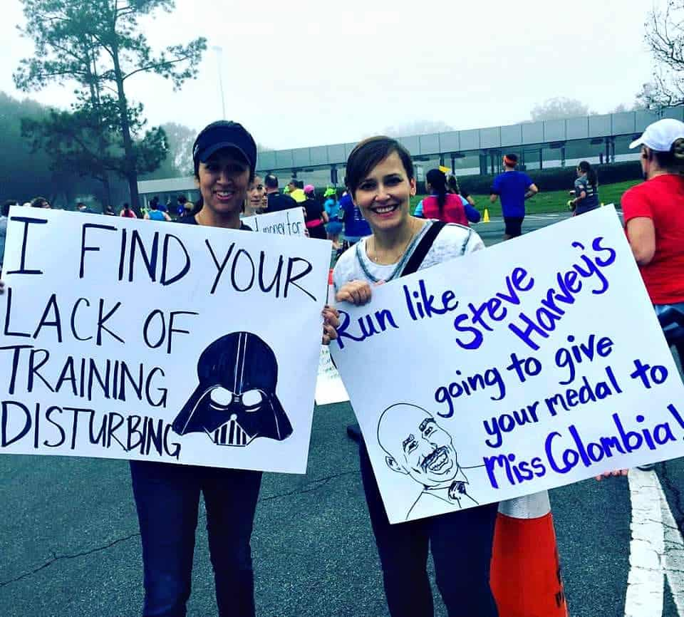 Funny race signs - I find your lack of training disturbing.
