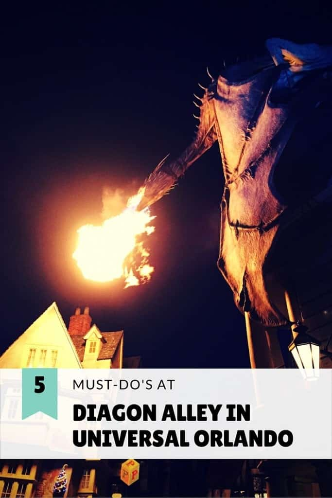 5 Must-Do's when visiting Diagon Alley at the Wizarding World of Harry Potter in Universal Orlando! There is plenty for little ones, too!