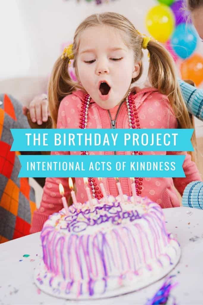 The Birthday Project - Doing Acts of Intentional Kindness to Make the World a Better Place. Next up - 38 acts of kindness for my 38th birthday.