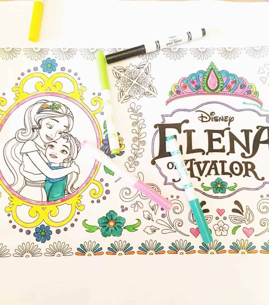 Color your own Elena of Avalor table runner