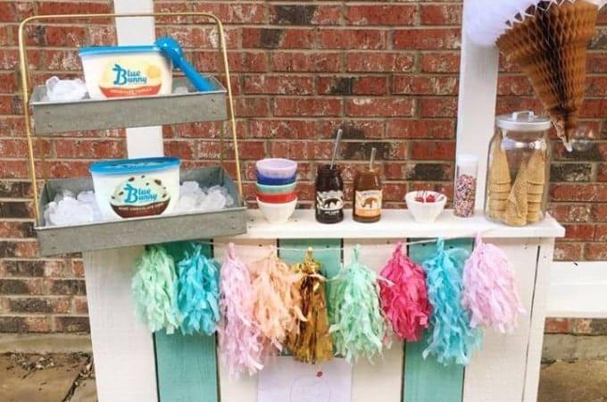 Backyard Ice Cream Stand
