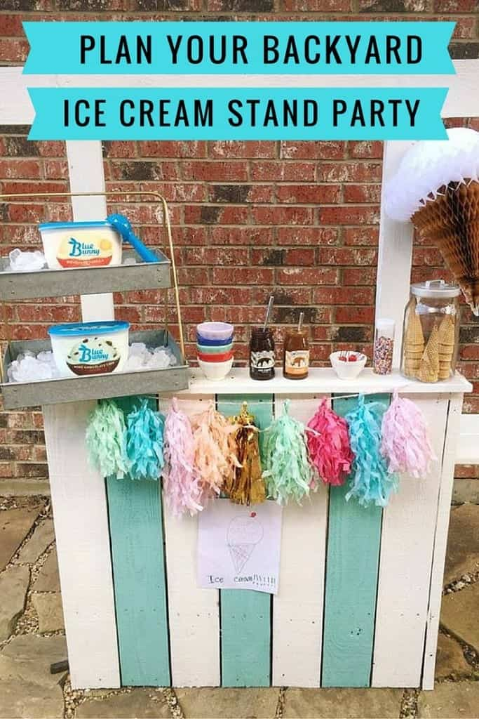Need fun summer activities for the kids? Plan your perfect Backyard DIY Ice Cream Stand Party!