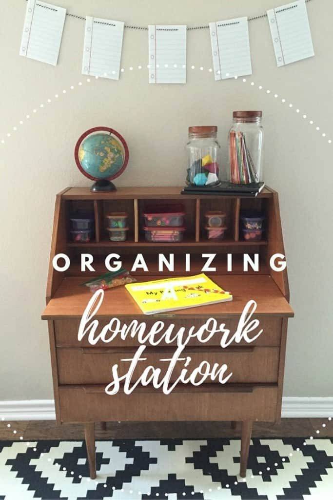 With back-to-school time, I need a nice, organized spot for my children to do their homework. Here's how I made a DIY homework station perfect for all our budding geniuses. #ZiplocBackToSchool ad