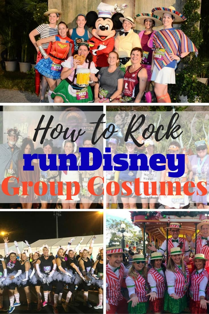 Running tons of miles is always better in costume. Here's how to rock a runDisney group costume for your next runDisney race! Check here for Disney running costumes.