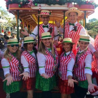 Dapper Dan group Disney running costume