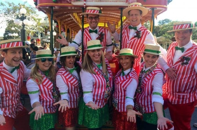 Dapper Dan group Disney running costume
