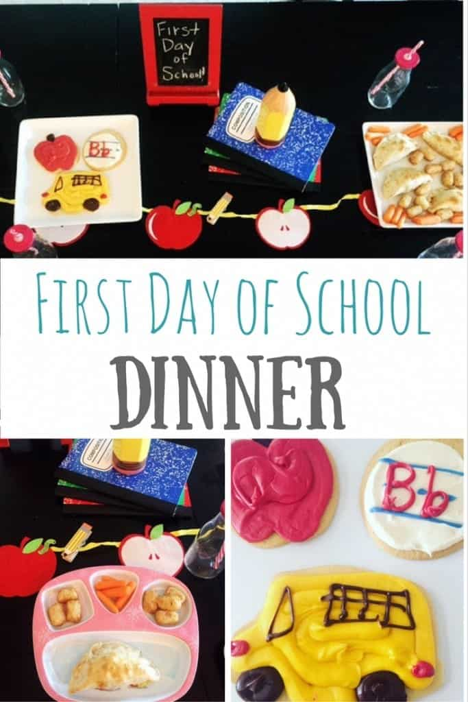 The first day of school is always an exciting, emotional time in our house. We have a tradition of having a special first day of school dinner. This year's theme was cafeteria style foods. A great way to have fun and talk about the day with your family!