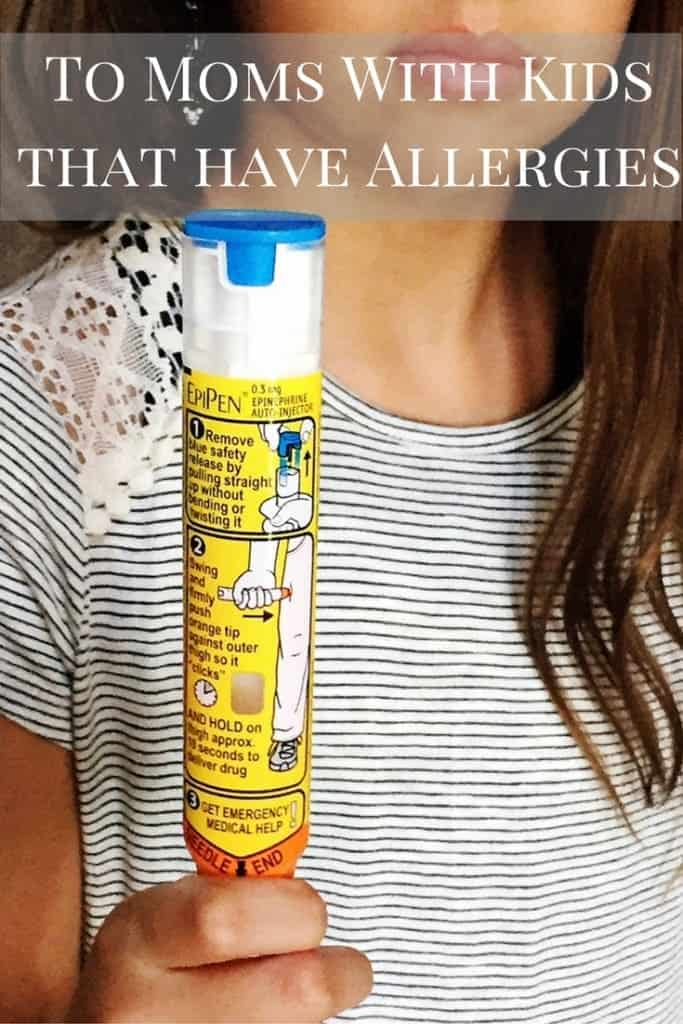 To moms that have kids with allergies, I owe you an apology.  My daughter has a peanut allergy, and I hope to never use her EpiPen, but we had a scare. You have me as an ally.