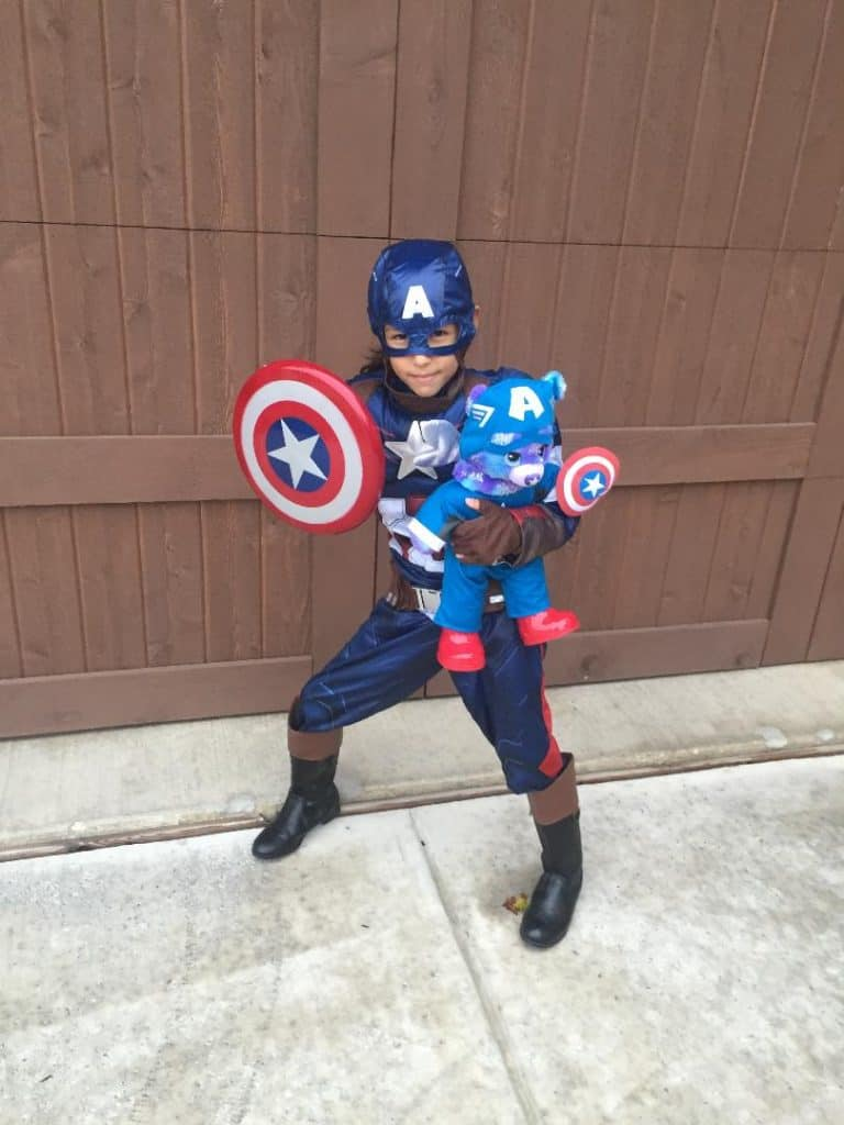 Girl Captain America Costume -Avengers Family Halloween Costumes