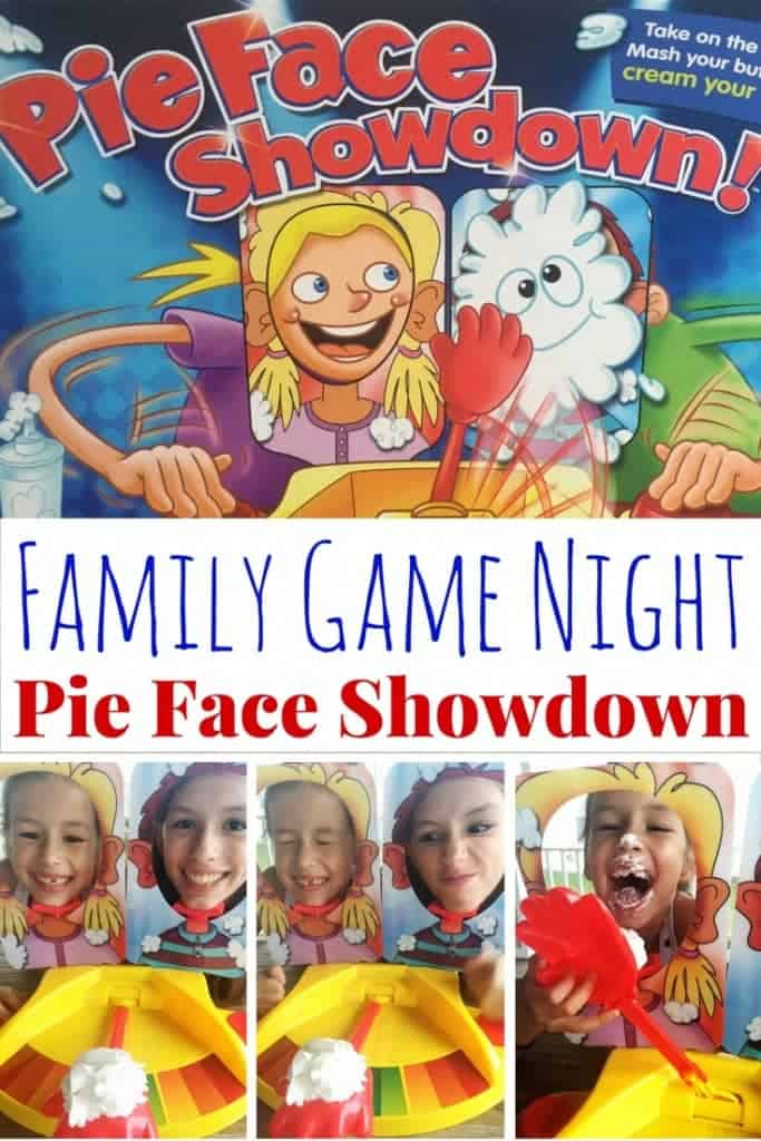 We are always looking for new games to play for family game night! Pie Face Showdown is hilarious as it adds head-to-head competition for extra family fun. Our video will show you it's perfect for all ages, great to play at Thanksgiving and holiday parties, and makes a great holiday gift!