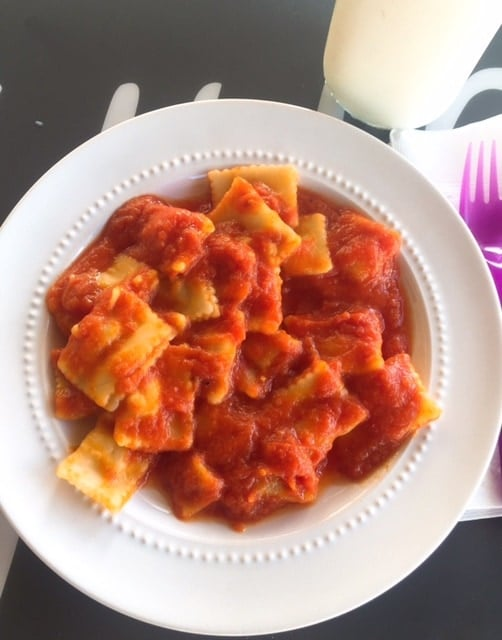 Kidfresh ravioli- easy dinner idea for busy moms