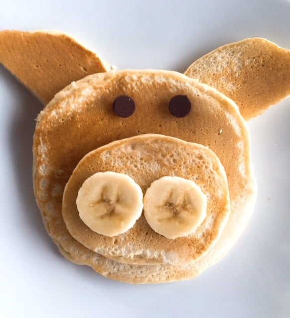 Pig-shaped pancake
