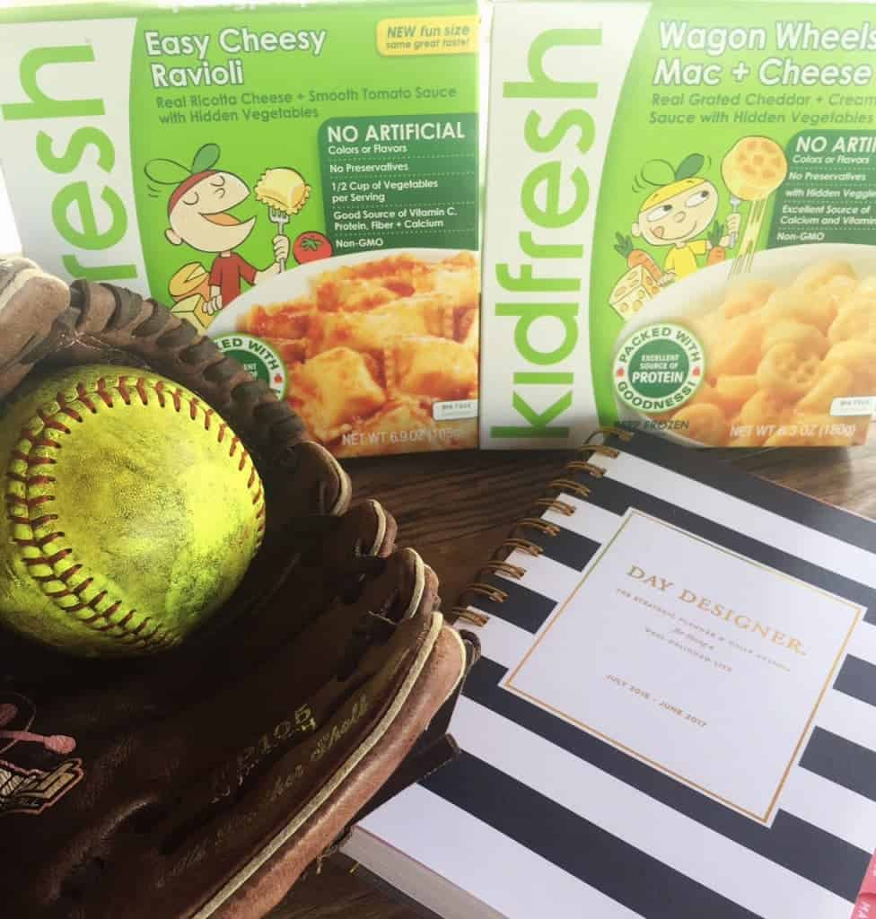 Ways to help busy after-school sports nights be a success, including Kidfresh meals