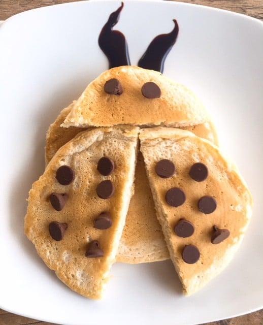 Ladybug pancake