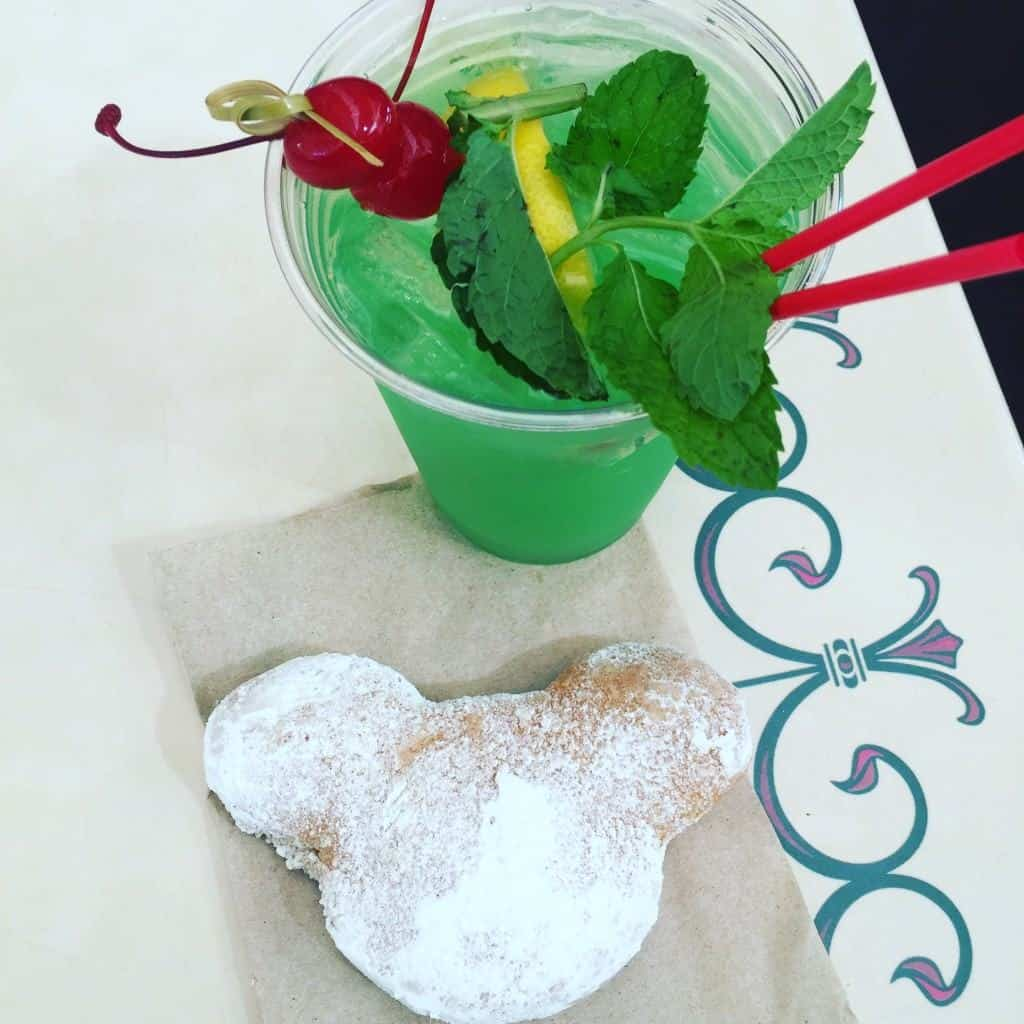 Best Disneyland snacks- Mickey Beignet and Mint Julep