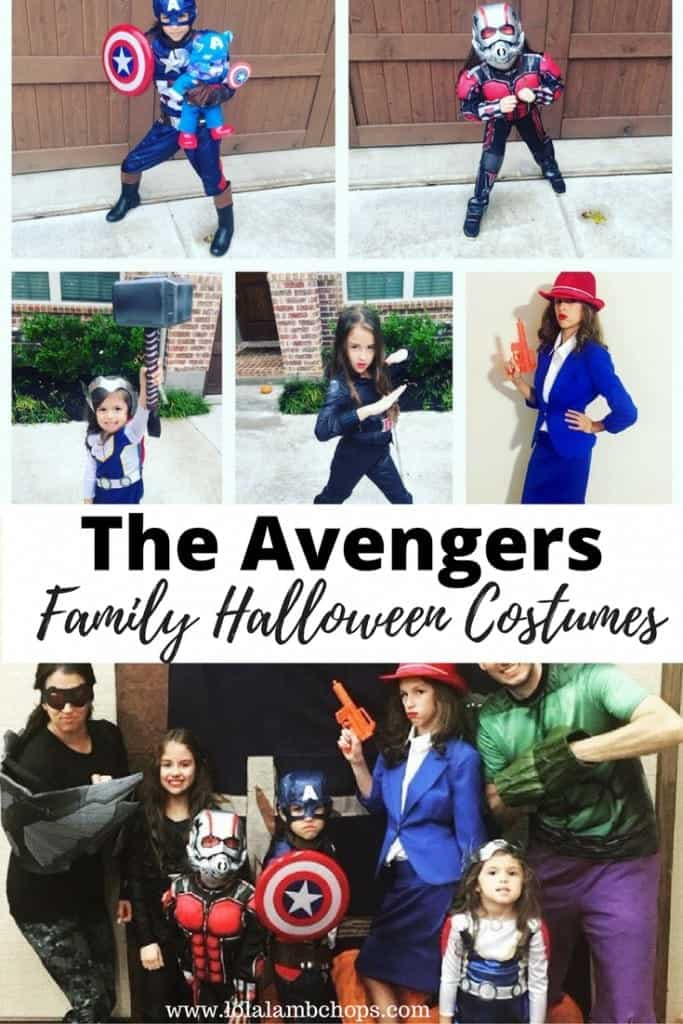 Another edition of family Halloween costumes! Here's how you can make your family into The Avengers through DIY and store bought costumes this Halloween season. We had a Hulk, Falcon, Captain America, Thor, Black Widow, Ant-Man, and Agent Carter.