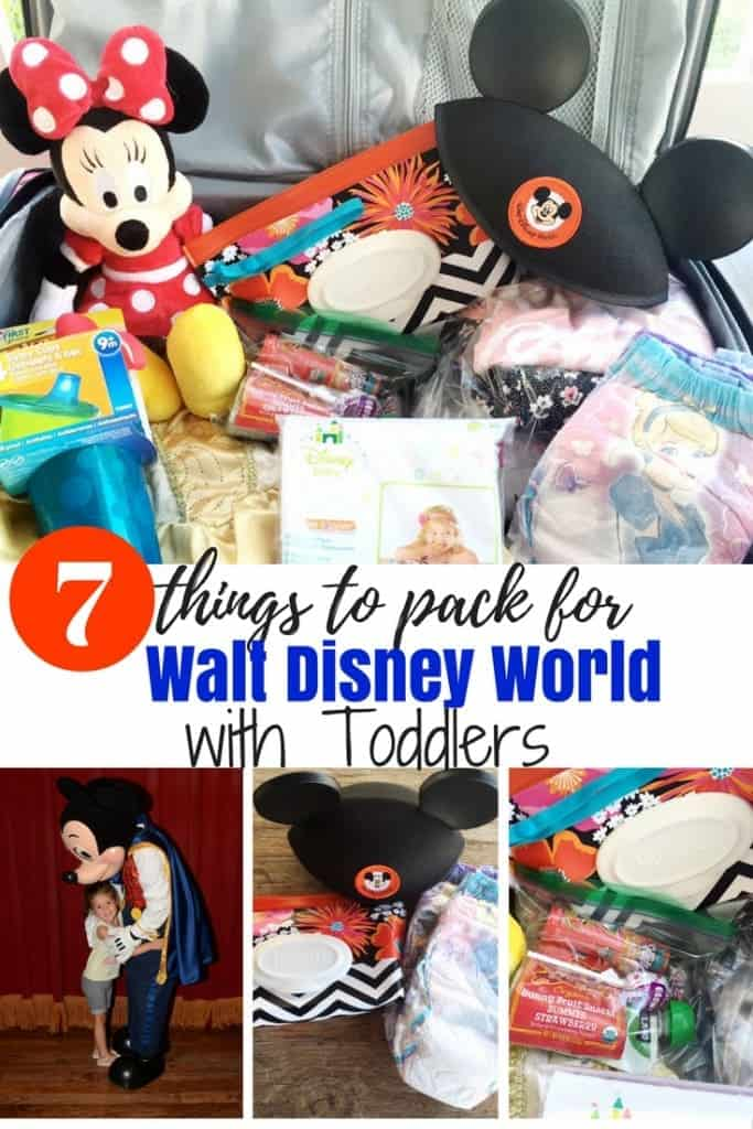 The best packing tips when traveling with toddlers to Walt Disney World! 7 things to pack that were lifesavers when I travel with little ones to all the Disney theme parks.