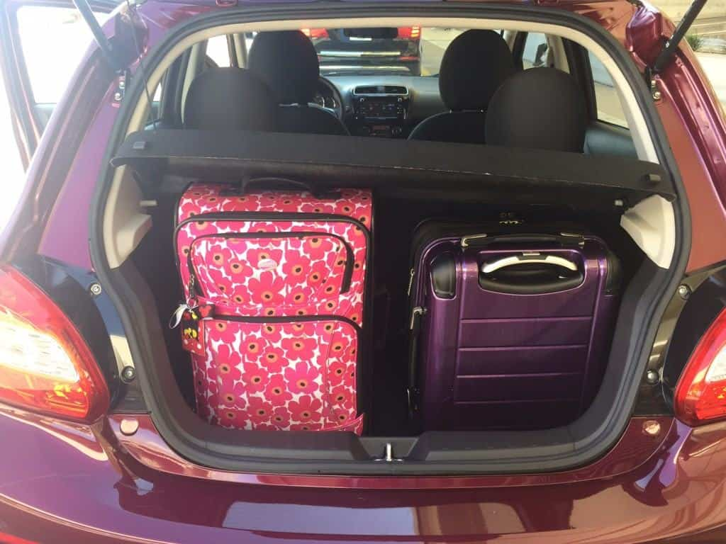 Trunk space in the Mitsubishi Mirage