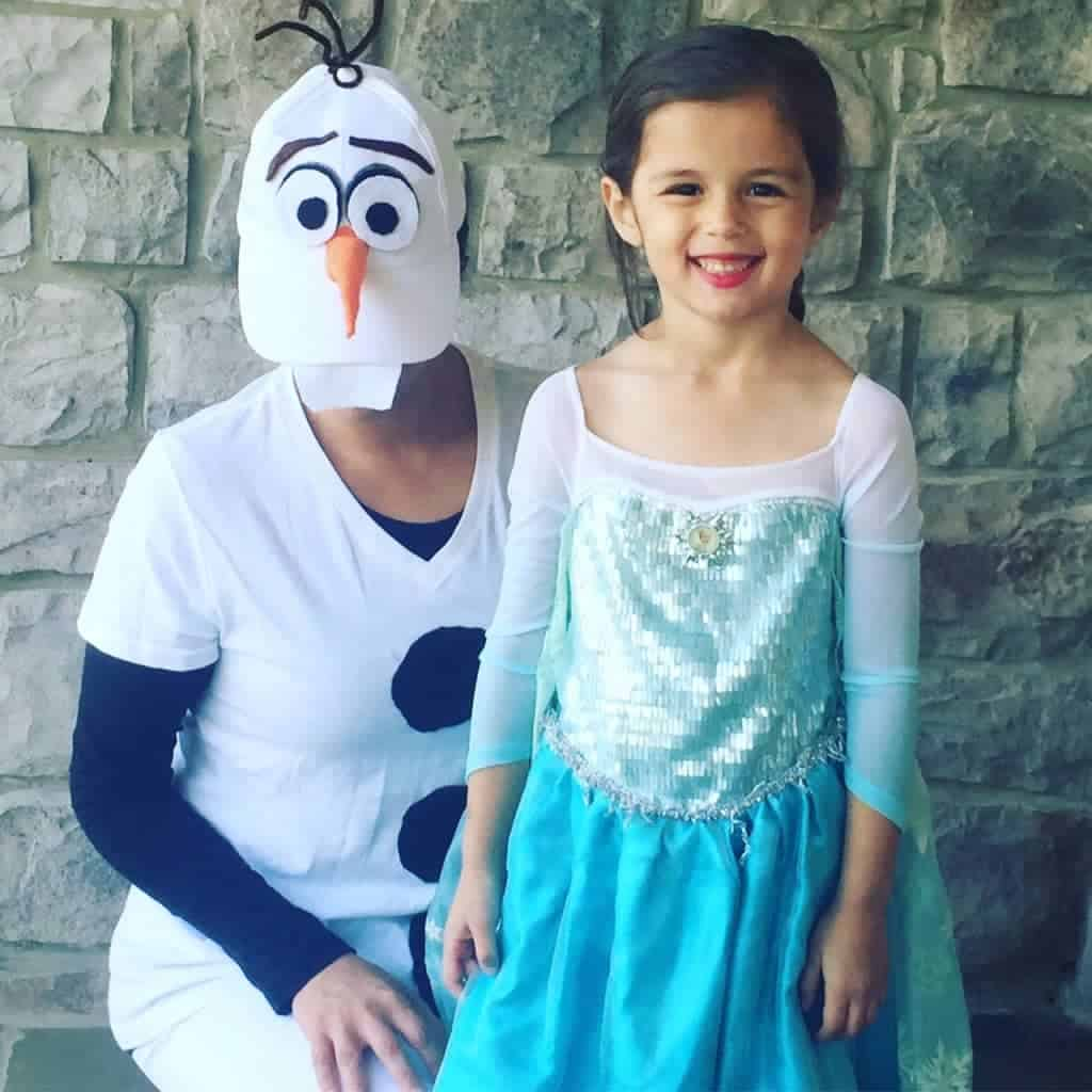 Olaf and Elsa DIY Costumes