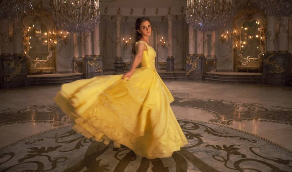 Belle's yellow dress is amazing and Emma Watson talks about how they designed it.