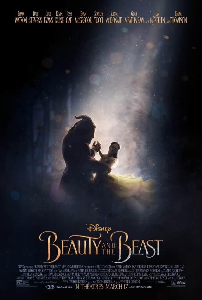 New Disney Live Action Beauty and the Beast Movie Poster! In theaters March 2017!