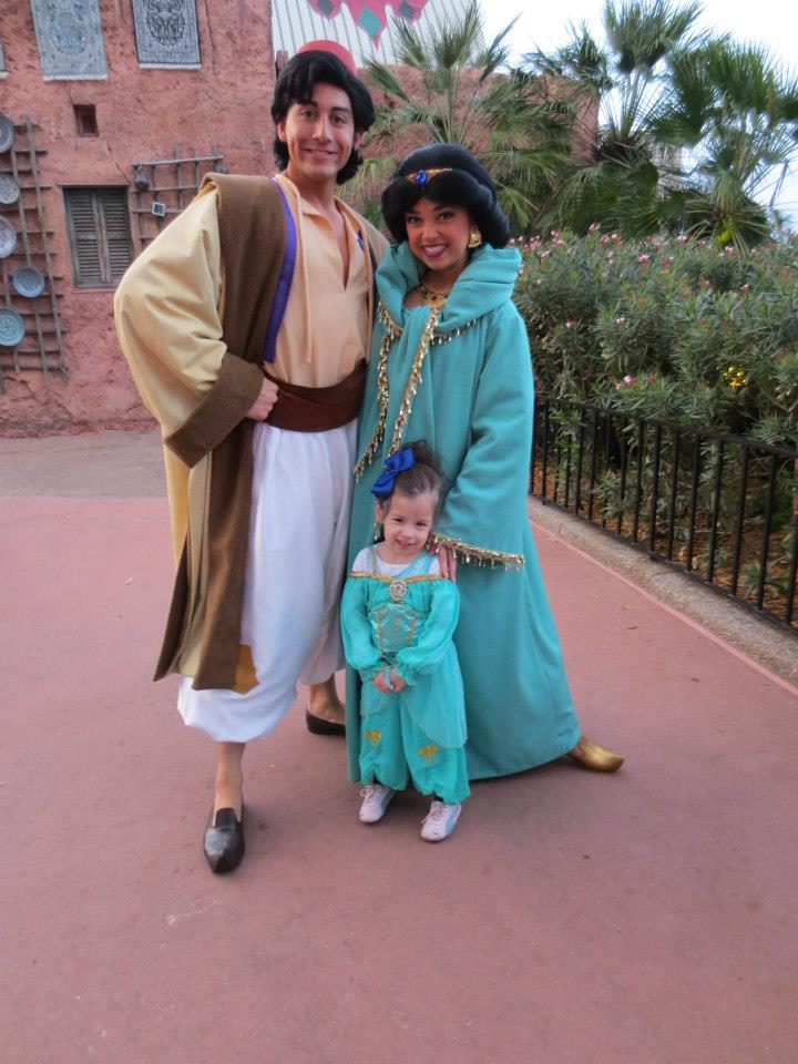 Character Meet and Greet with Jasmine in Epcot for toddlers