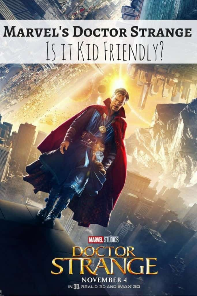 Before you see Marvel's Doctor Strange, read my movie review to see if Doctor Strange is kid friendly. Does it have swear words, sexual content, violence? I'll give you the scoop on the film and hey, photos of Benedict Cumberbatch!