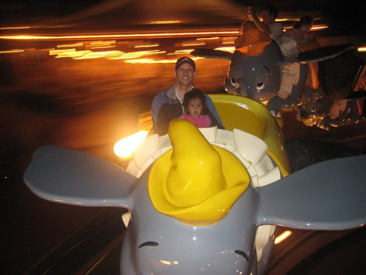Dumbo the Flying Elephant is a pretty safe choice for toddlers at Walt Disney World.