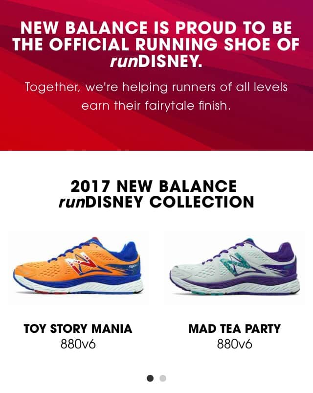 2017 runDisney New Balance Collection