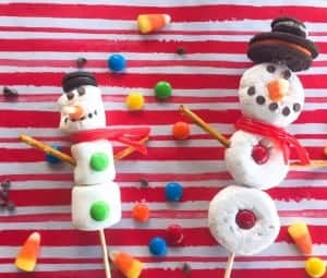 Donut and Marshmallow Snowmen Pinterest Fail