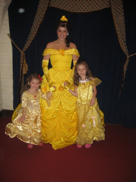 Picture with Belle at Akershus Royal Banquet Hall