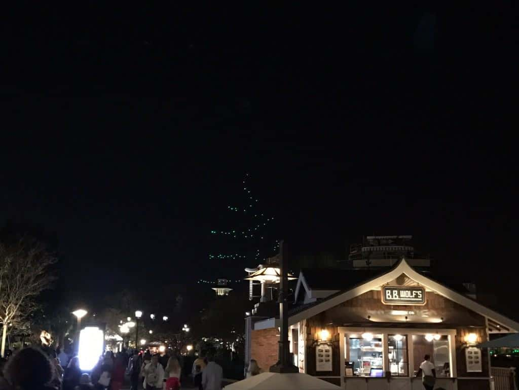 Starbright Holidays Drone Show in Disney Springs