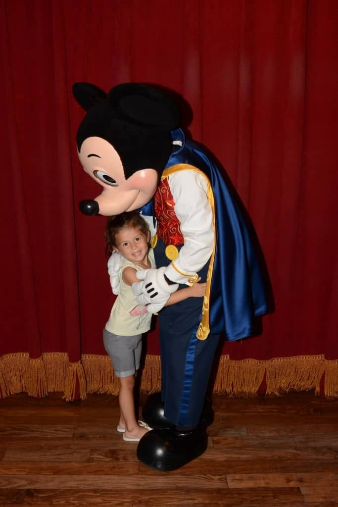 Meeting Talking Mickey Mouse at Magic Kingdom is the best for toddlers at Disney World!
