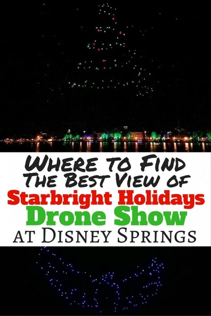 Where you can find the best view of Starbright Holidays Drone Show at Disney Springs. More than 300 drones light up the sky at Disney Springs. Don't make the same mistakes we did and stand in the wrong spot. I'll tell where you should watch from and you can see the complete drone show video, too!
