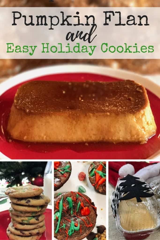 Easy holiday cookie and brownie recipes including some Christmas cookie hacks! Perfect for kids to help with and cookie exchanges. Extra bonus is a pumpkin flan recipe, because I need all the pumpkin!