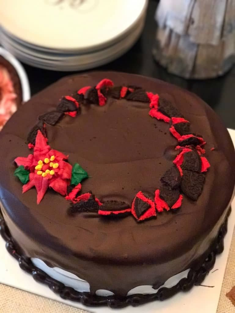 Baskin-Robbins Ganache Poinsettia Cake - Best Holiday Desserts