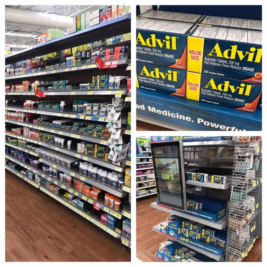 Pharmacy aisle at Walmart