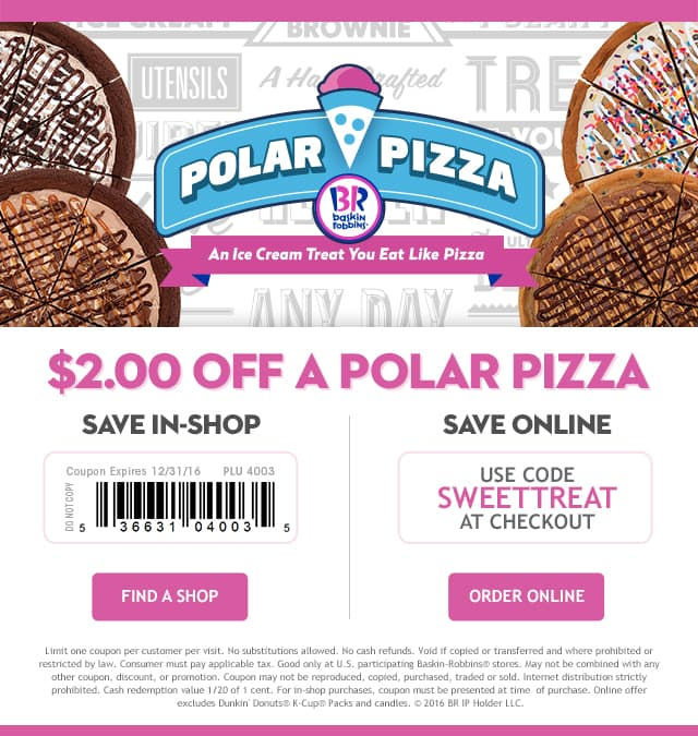 Polar Pizza Baskin-Robbins Coupon