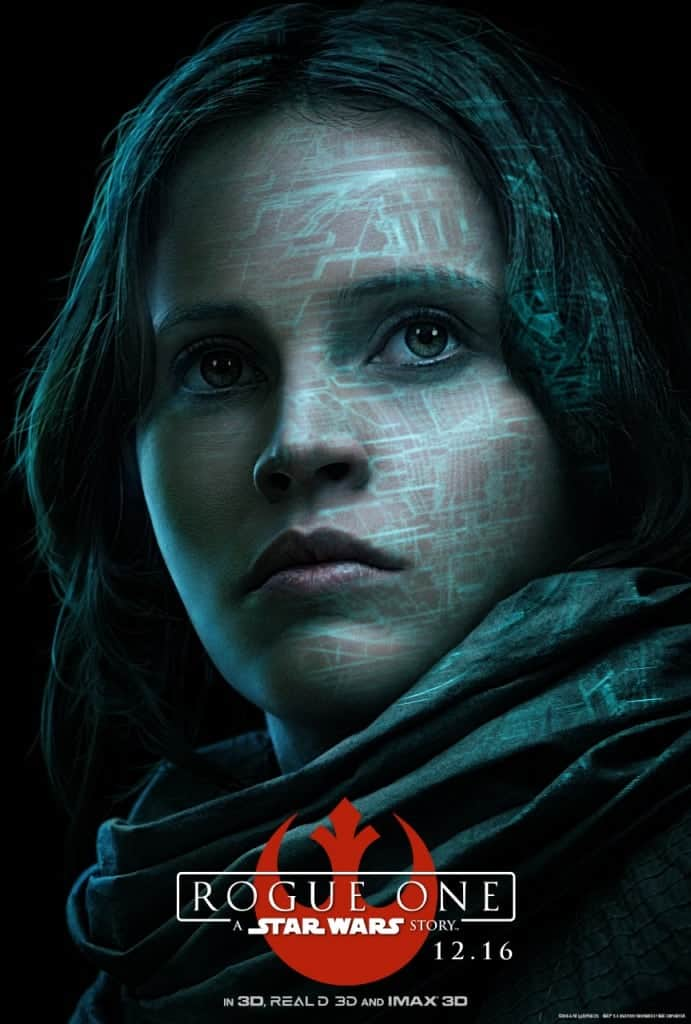 Rogue One for Kids Movie Poster with Jyn Erso