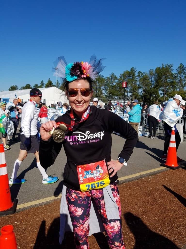 Running with Infertility, Angela Tiedemann finishes the 2017 Walt Disney World Marathon