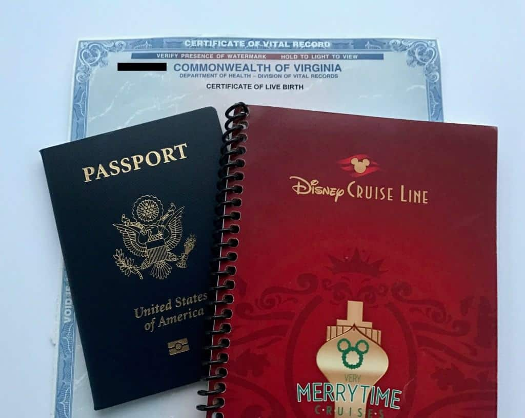 Disney Cruise Line Documentation requirements. Do you need a passport for a Disney Cruise? Don't forget passports, ID, and birth certificates!