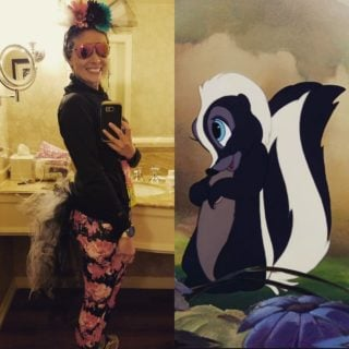 runDisney Flower from Bambi skunk running costume