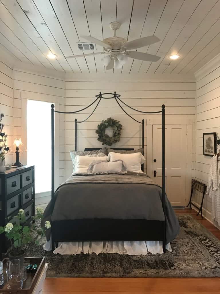 Magnolia House Upstairs Bedroom built by Chip and Joanna Gaines from Fixer Upper
